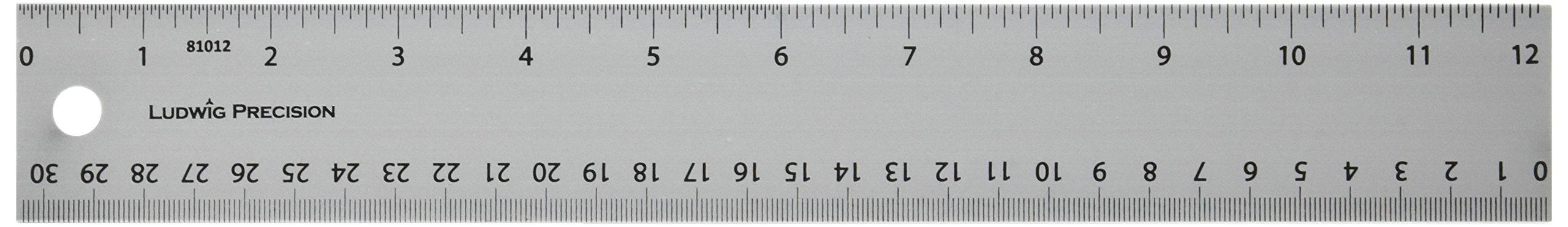 Alumicolor Ludwig Precision 12-Inch Aluminum Straight Edge