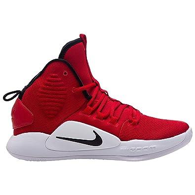 52e861f2faa2 NIKE Men s Hyperdunk X Team Basketball Shoe University Red Black White Size  9 M
