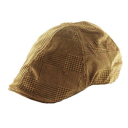 4d7c03b97b2 Oudan Fashion Cap Casual Beret Flat Hat Adult Unisex Cap Hat (Color   Yellow
