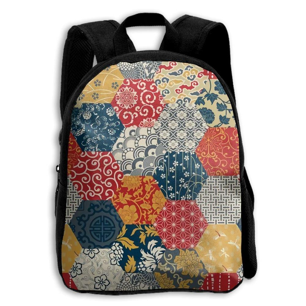 GARDENFLOWERクラシックJapaneseファブリック3dプリントデザインスクールバックパックShoulders Bag for Boys Girls   B079J9CMTD