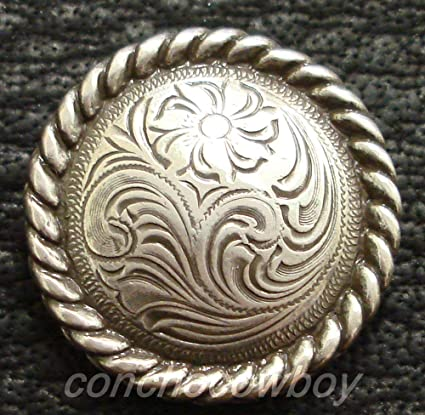 WESTERN HORSE HEADSTALL SADDLE TACK COPPER ENGRAVED ROPE EDGE CONCHOS 3//4/""