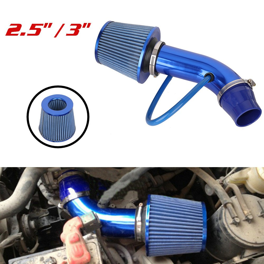 Air Intake Filter - Universal Performance 2.5'' / 3'' Cold Air Intake Aluminium Pipe Hose System Carbon for Toyota Honda Nissan Ford BMW Hyundai Chevrolet