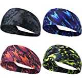 Obacle Headbands for Men Women Sweat Bands Headbands Non Slip Breatheable Durable Head Band Outdoor Sports Workout Yoga Gym R