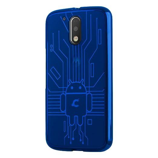 10 opinioni per Cruzerlite MG42016-Circuit Custodia per Motorola Moto G4 2016/ Moto G4 Plus, Blu