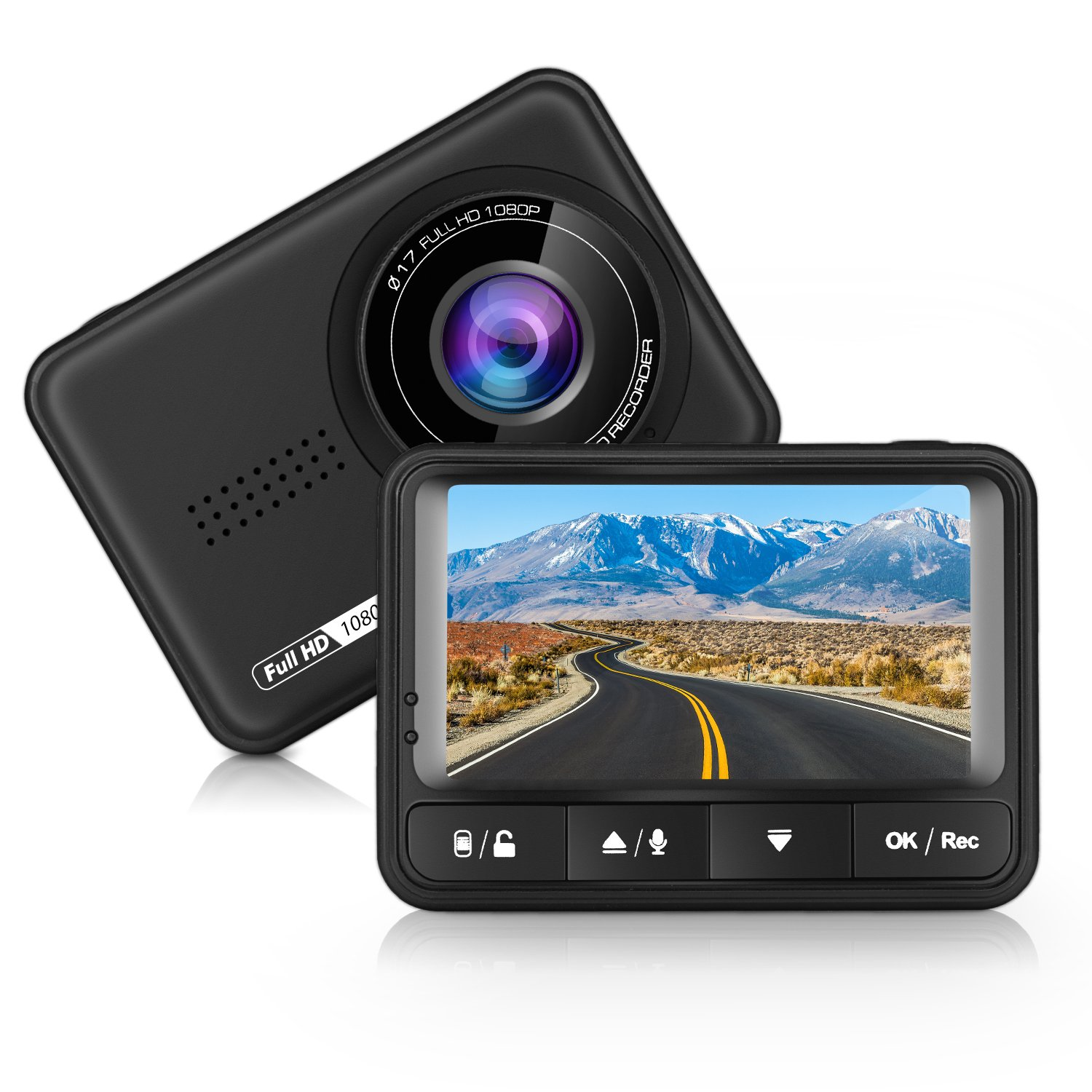 Camé ra de Voiture, Panlelo D2 Dash Cam L'enregistreur de Conduite Full HD 1080P 12mp DVR 170° Grand Angle, DASHCAM Enregistreur, WDR, Enregistrement en Boucle, Dé tection de Mouvement Détection de Mouvement D015