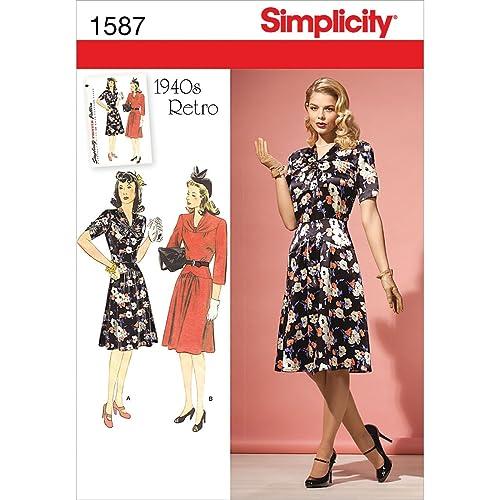 Retro Dress Pattern: Amazon.co.uk