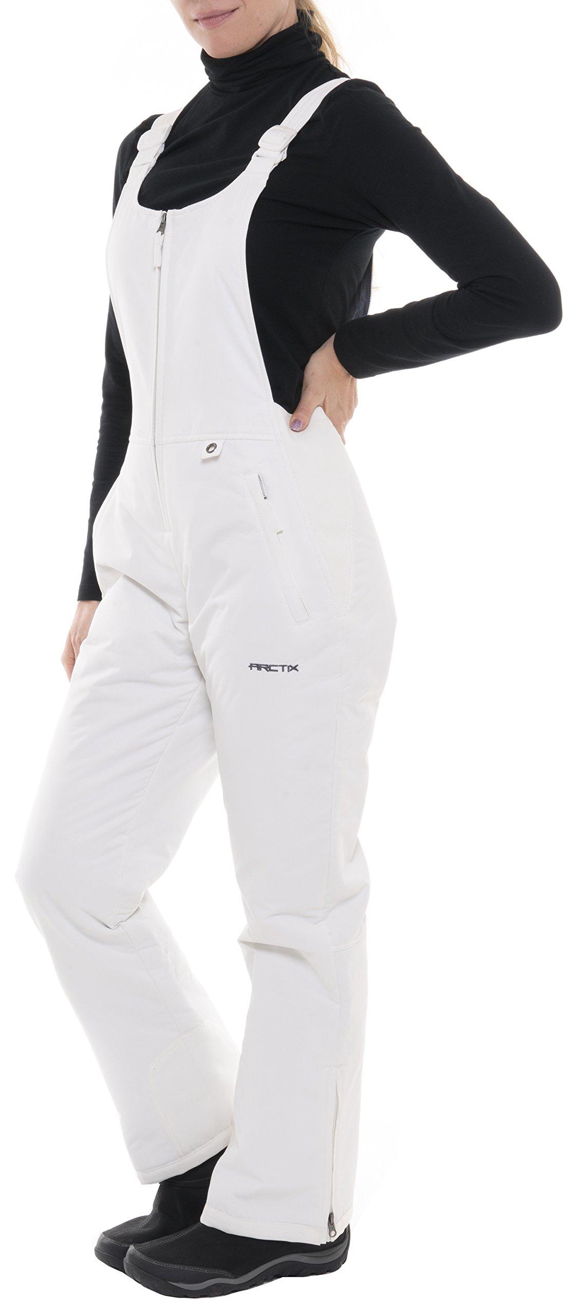 Arctix Women's Women's Insulated Bib Overalls, White, Medium by Arctix