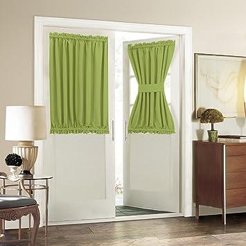 Patio Door Curtain Panel   Aquazolax Blackout Drapes 54u0026quot;x 40u0026quot;  Curtains Decorative With