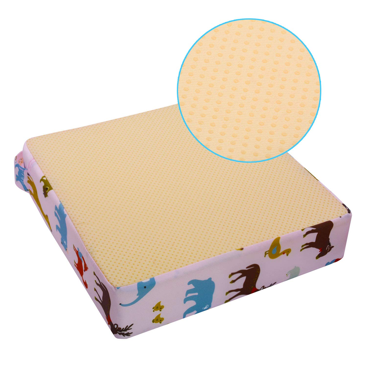 Portable Baby Highchair Booster Cushion for Toddler Kids Infant Washable Thick Chair Seat Pad Cloth Strap VoiceFly High Chair Cushion Starry Sky