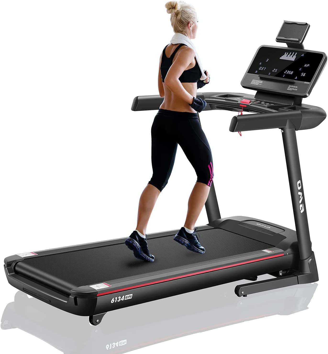 OMA Treadmill for Home 6134EAI with 15% Auto Incline 350 LBS Capacity Folding Exercise Treadmill for Running