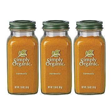 Simply Organic Ground Turmeric Root | Certified Organic | 2 38 oz  (3 Pack)