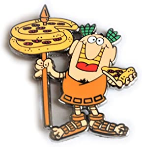 Little Caesars Ceasars Pizza 1.5 inch Hard Enamel Mascot Lapel Pin