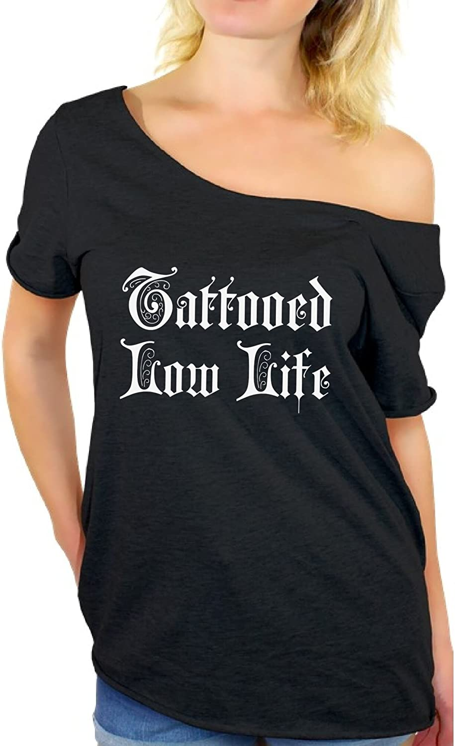 Awkward Styles Tattoo Off Shoulder Shirt Tattooed Tshirt Gifts for Tattoo Lovers
