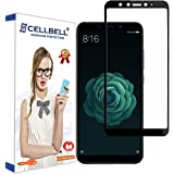 CELLBELL Full Glue Edge to Edge Tempered Glass Screen Protector with Installation Kit for Xiaomi Mi 6X/ A2 (Black)