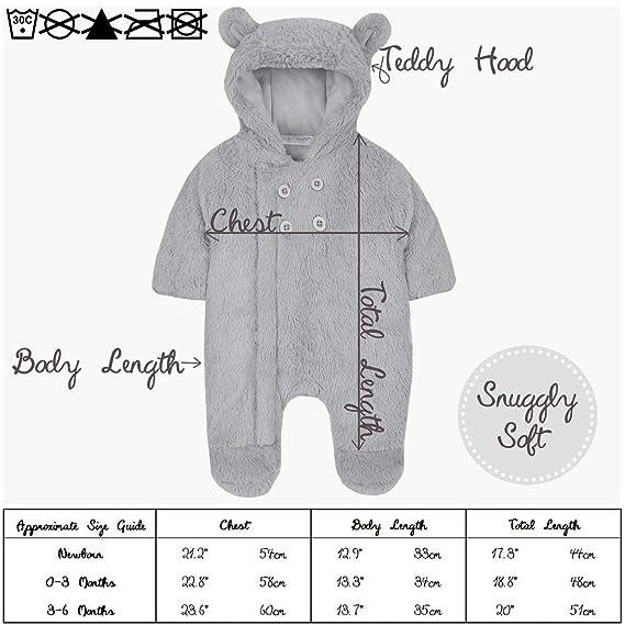 d3c50c25b Amazon.com  Metzuyan Unisex Baby Fluffy Pram Suit with Hood ...