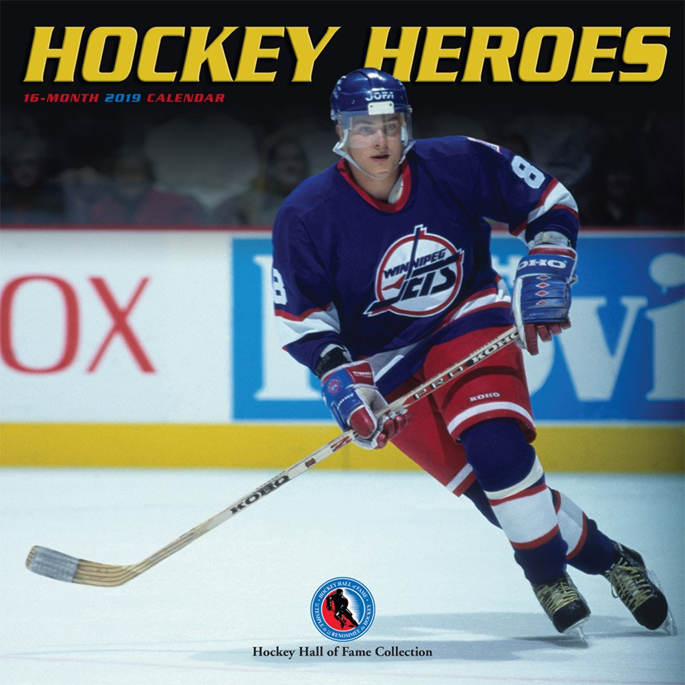 Hockey Heroes 2019 12 x 12 Inch Monthly Square Wall Calendar by Wyman, Sport Celebrity by BrownTrout Publishers