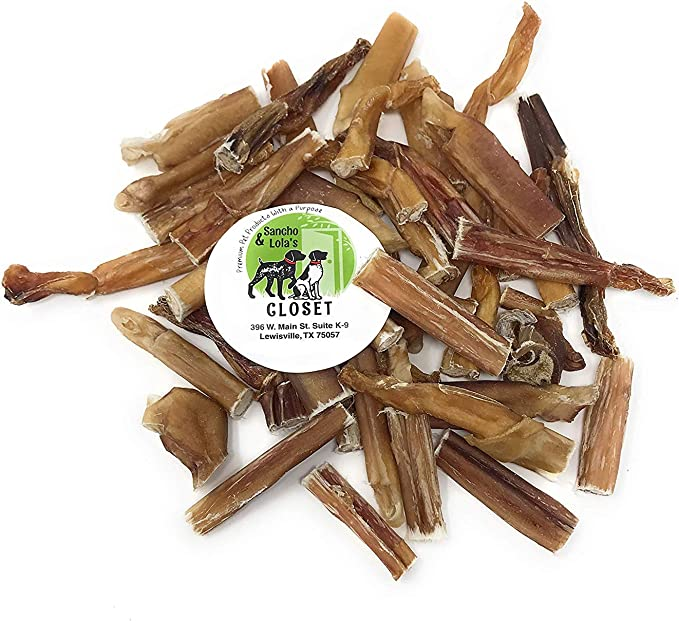 Sancho & Lola's Bully Stick Shorties & Bites for Dogs Made in USA - Rawhide-Free Grain-Free High-Protein Small Beef Pizzle Dog Chews