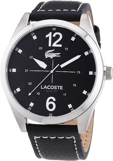 Lacoste 2010695 - Reloj analógico de Cuarzo para Hombre, Correa de Cuero Color Negro
