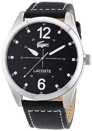 Analogique Cadran Bracelet Noir Lacoste 2010695 Homme Montre Sport Luxury Cuir Quartz L54j3ARcSq