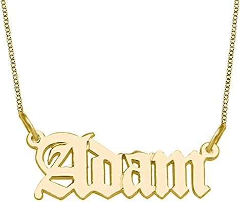 FUJIN 925 Sterling Silver Personalized Necklace Little Cat Custom Made with Any Name