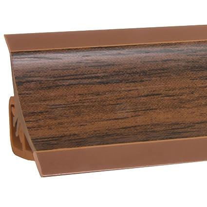 HOLZBRINK Copete de Encimera Nuez Oscuro Embellecedor de Remate PVC Listón de Encimeras 23x23 mm 150