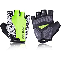 RIVBOS Bike Gloves Cycling Gloves Fingerless for Men Women with Foam Padding Breathable Mesh Fashion Design for Mountain…