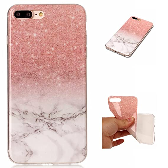 cheap for discount c5bfe ac891 Amazon.com: iPhone 8 Plus Case, iPhone 7 Plus Case, SUMOON [Marble ...