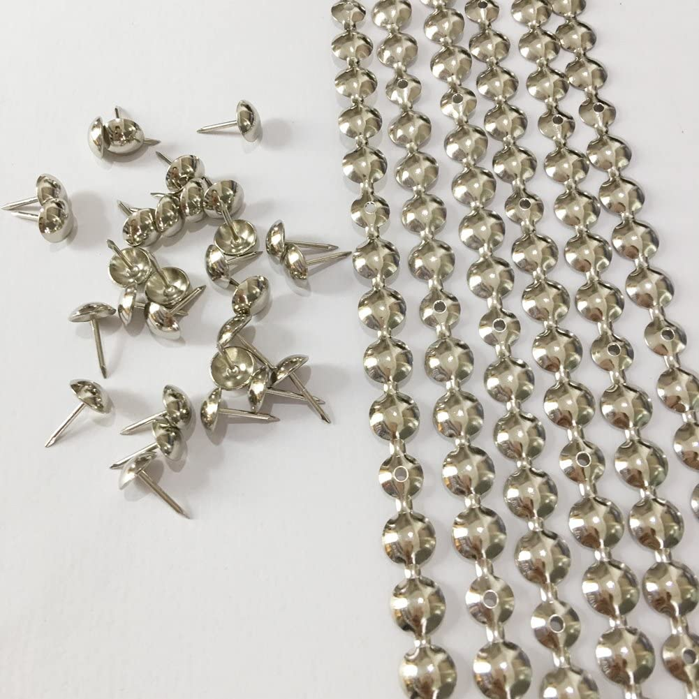 10 Meters: Nickel/Brass/Bronze Plated Decorative Nail Strips/Nailing Tapes,Sofa Tacks,Upholstery Tacks,DIY Furniture Accessory (E:11mm Nickel)