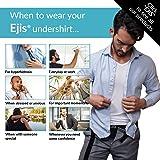 Ejis Men's Sweat Proof Undershirt, Crew