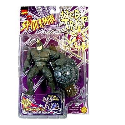 Spider-Man Web Trap Rampaging Rhino Action Figure: Toys & Games
