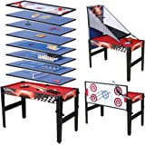 Walker Simpson 4ft 13 In 1 Games Table Amazoncouk Toys Games