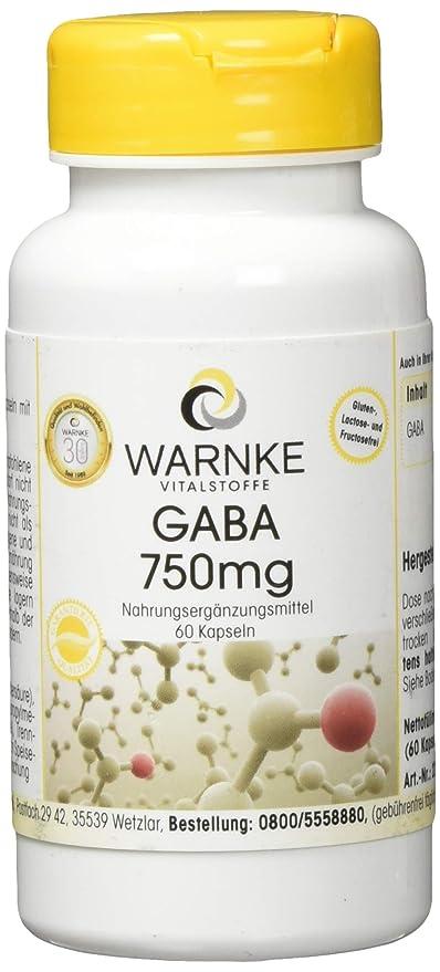 GABA 750mg – Ácido gamma amino butírico – Vegano - 60 comprimidos