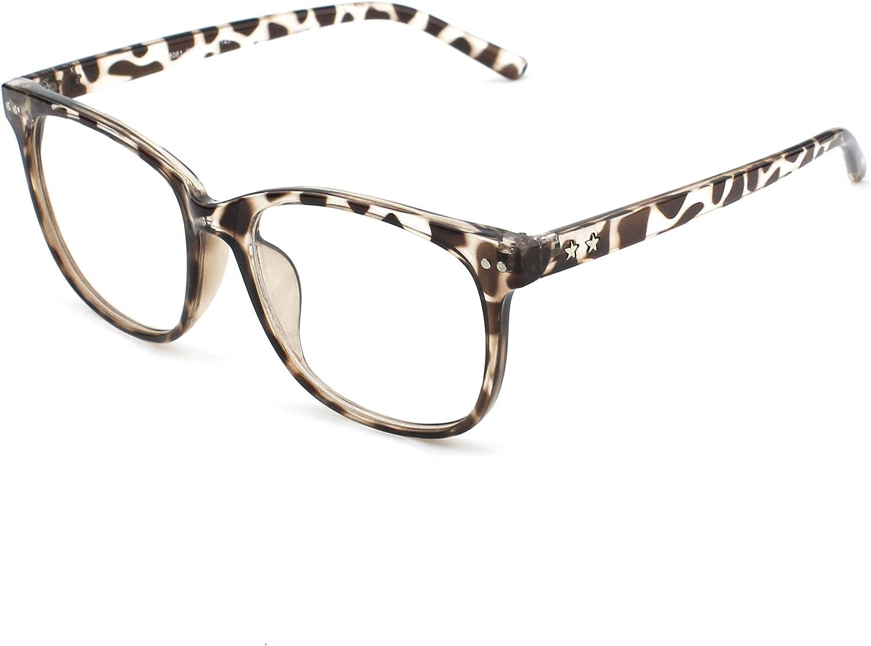 CGID CN81 Damen Herren Styler klassische Nerdbrille Streberbrille Pantobrille 80er Jahre Klarglas Fashion Oversized Nerd Geek Style