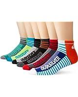 Quiksilver Men's 6 Pack Color-Blocked Stripe Quarter Sock