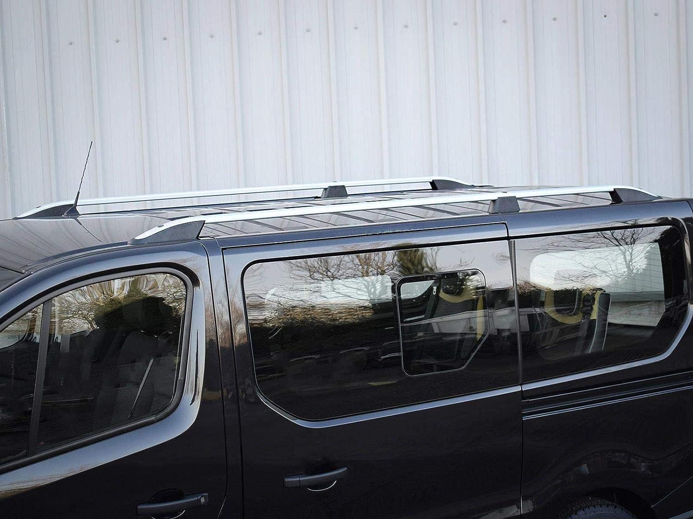 RENAULT TRAFIC SWB Aluminium Roof Bars Roof Rails Set 2014 ON BLACK
