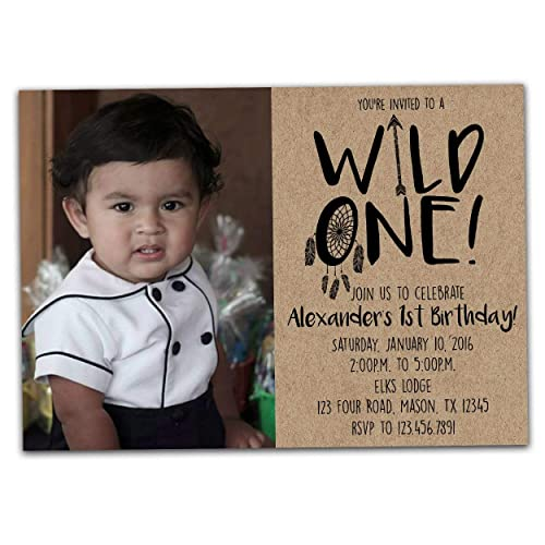 Amazon Photo Wild ONE Birthday Invitation For 1st Boy