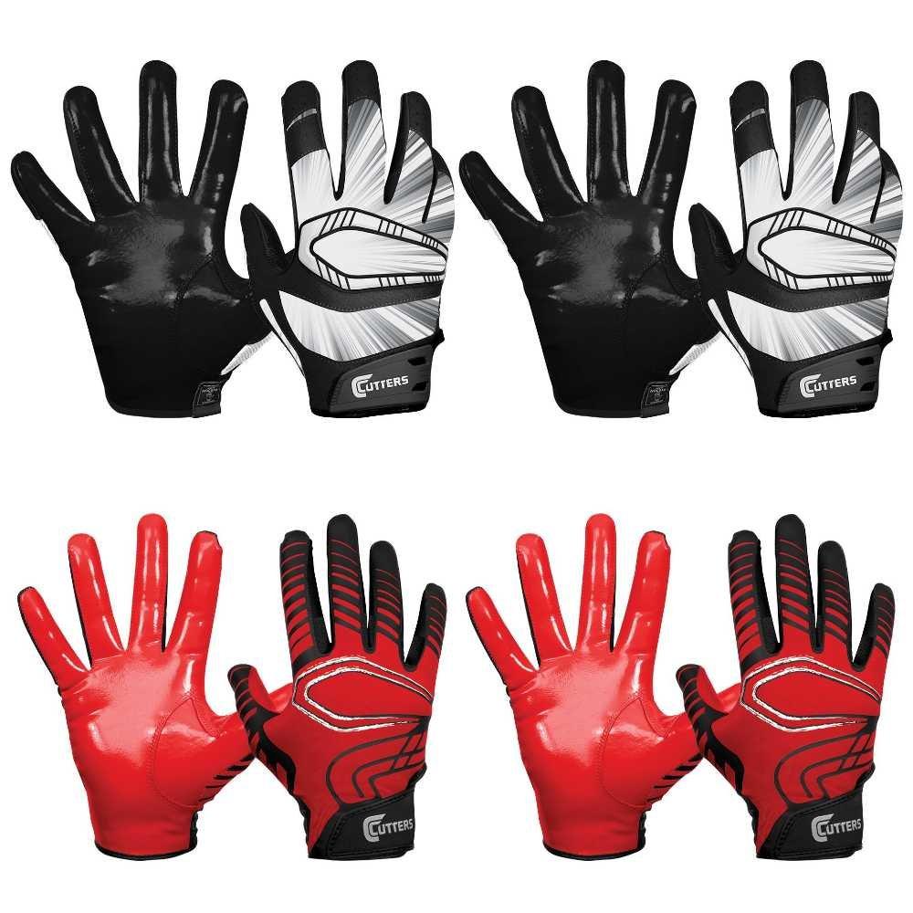 カッター手袋Rev Pro Receiverグローブ( 4ペア) (ブラック/レッド) Large B07BQSR268