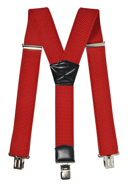 Jixin4you Homme Bretelles Y pour Pantalon avec 6 Boutons Unie Ajustable Casual