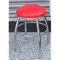 Metal Ayak Tabure Sandalye Sağlam Masa Altı Nike (kırmızı)