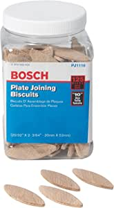Bosch PJ1110 Plate Joiner Biscuits size 10, 125 Pack