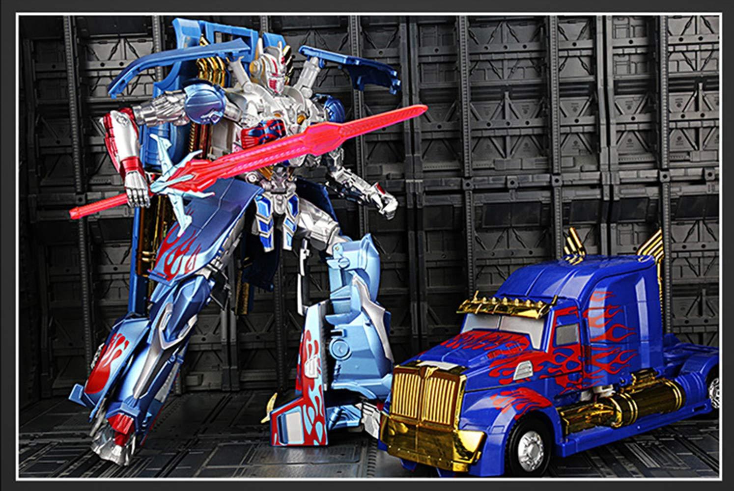 a precios asequibles ZGUO Transformers Boys Juguetes para niños Edición Edición Edición de película Alloy Optimus Prime Coche Robot Police Coche Regalos Azul Azul Optimus  tiendas minoristas