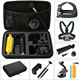 NavTour Outdoor Sports Camera Accessories Kits for Gopro Hero 6 5 4 3+ 3 2 1 SJ4000 SJ5000 SJ6000, Lightdow LD6000 LD4000, DBPower EX5000 with Carrying Case/Chest Strap/Octopus Tripod