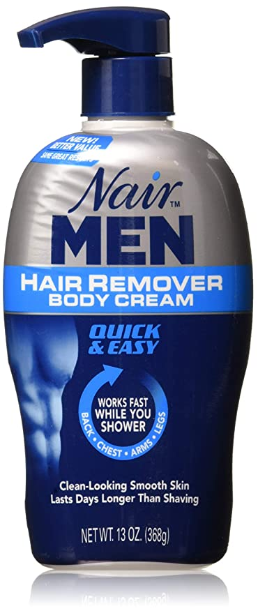 Amazon Com Nair For Men Hair Removal Body Cream 13 Oz Pack Of 3