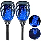 """EOYIZW Solar Torch Light with Flickering Flame Outdoor Decor, 43"""" 2 Pack Premium 99 LEDs Flickering Solar Flame Torch…"""
