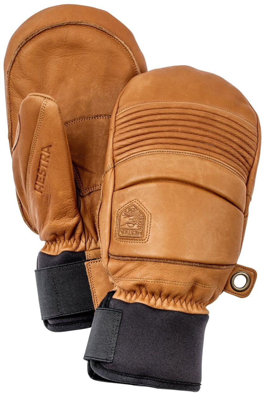 Hestra Leather Fall Line Short Ski Mitten,Brown,10