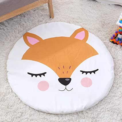 Newborn Kids Breathable Floor Mats Baby Crawling Blanket Cotton Chilren Padded Mat Round Carpet Play Rug Kid Room Decoration Pad Baby Gyms & Playmats