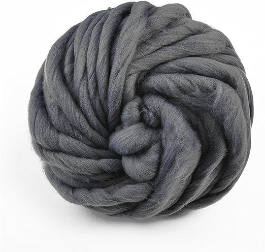 Giant Garn Chunky Wolle Strickgarn 1 Kg 1 Super Soft Klobigen Arm Stricken Wolle Roving Wolle Dunkelgrau 1kg 2 2lbs Amazon De Kuche Haushalt