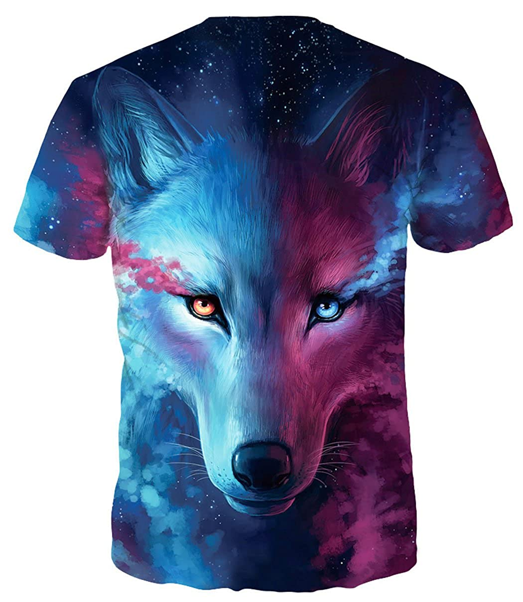 a3f8dedc0 Amazon.com  HOP FASHION Unisex Short Sleeve 3D Print T Shirts  Clothing