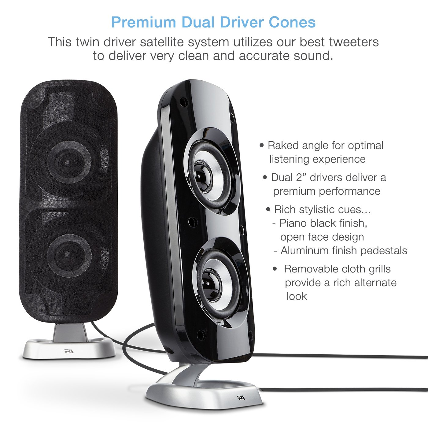 Cyber Acoustics High Power 2.1 Subwoofer Speaker System with 80W of Power – Perfect for Gaming, Movies, Music, and Multimedia Sound Solutions (CA-3810) by Cyber Acoustics (Image #3)