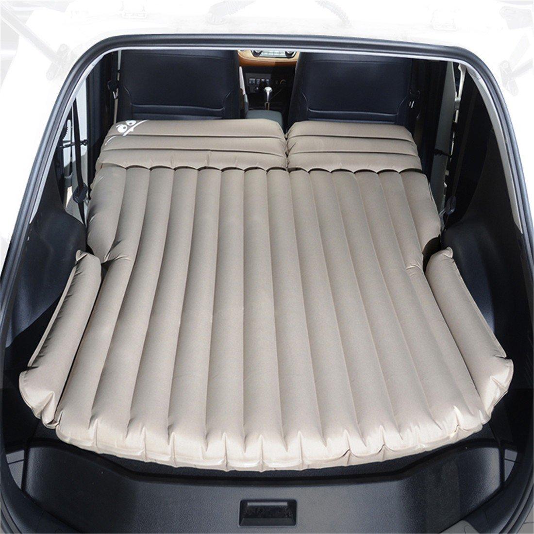 STAZSX SUV Auto Bett Auto Erwachsenen Schlafwagen Auto Reisebett, Oxford Tuch khaki-135x78CM